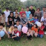 Activités des enfants dans un home
